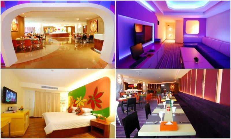 restaurant and rooms with karaoke at Hip Bangkok Hotel