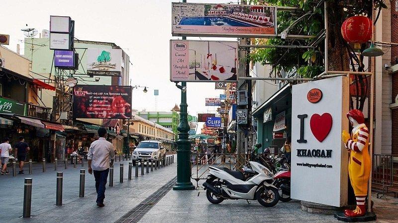 renovated Khaosan road in Bangkok