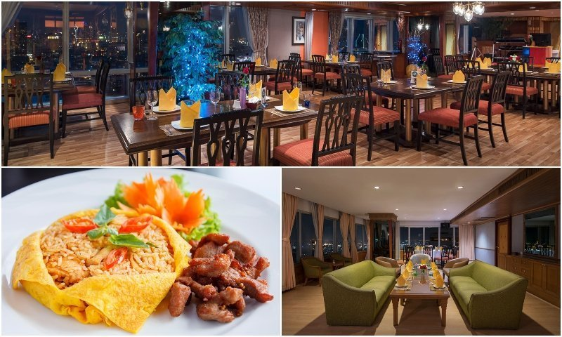 Lounge food and karaoke room at Krua Mahanak Sky Lounge & Karaoke in Bangkok