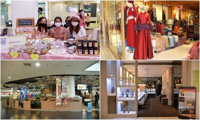 Shops and sellers at Paradise Park shopping mall in Bangkok