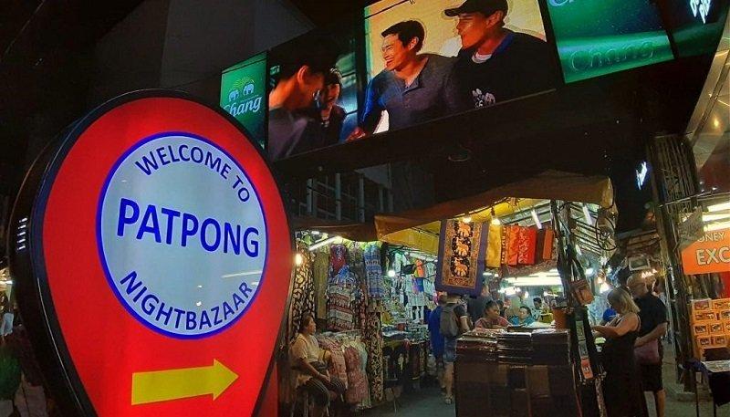Patpong night market sign in Bangkok