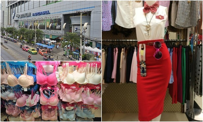 exterior and clothes at Platinum Fashion mall in Bangkok