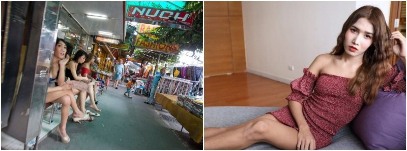 Thai massage parlors with ladyboys masseuses in Thailand
