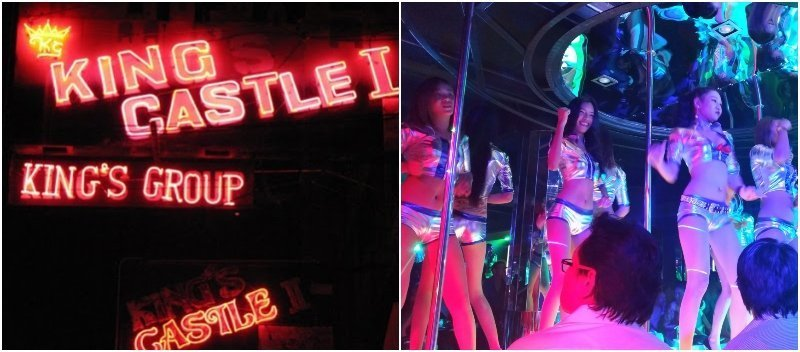 Old photo of King Castle gogo bar in Patpong in the 1980's