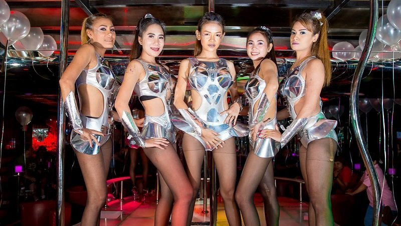 Thai gogo bars girls in a bar in Patpong red light district