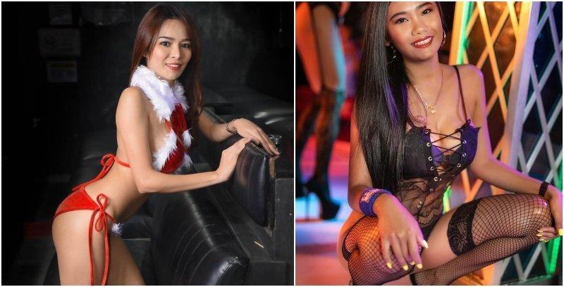 Sexy coyote girl at a bar in Bangkok
