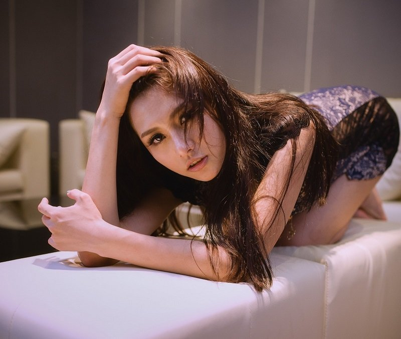Hot Thai massage girls on a massage table