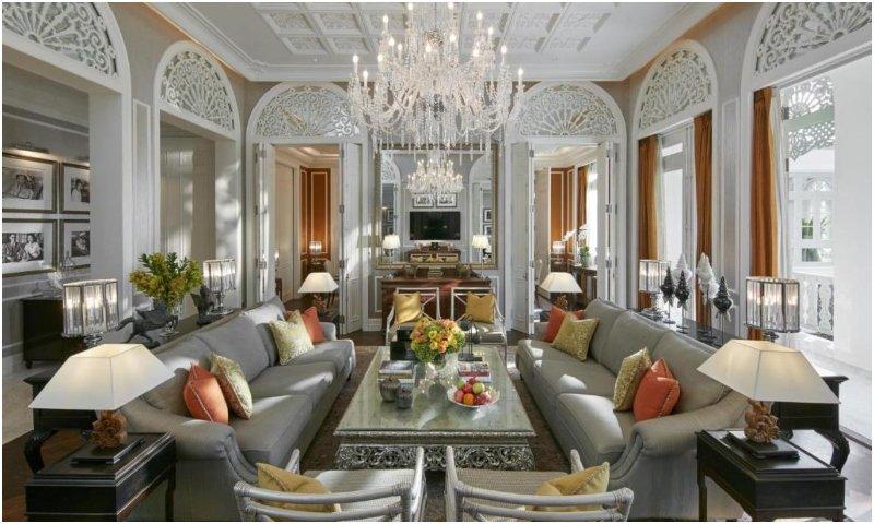 Mandarin Oriental Bangkok royal king suite lounge
