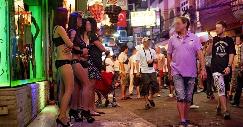 Prostitutes on streets of Thailand