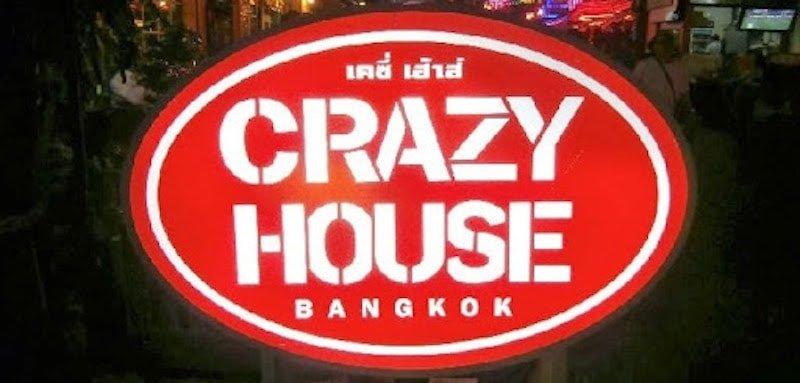 Crazy House Bangkok gogo bar red sign