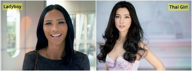 difference between ladyboy and thai girl faces