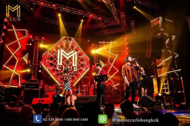 live band performing at M Club Bangkok