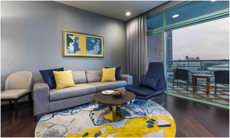 Lounge in suites at Chatrium Hotel Riverside Bangkok