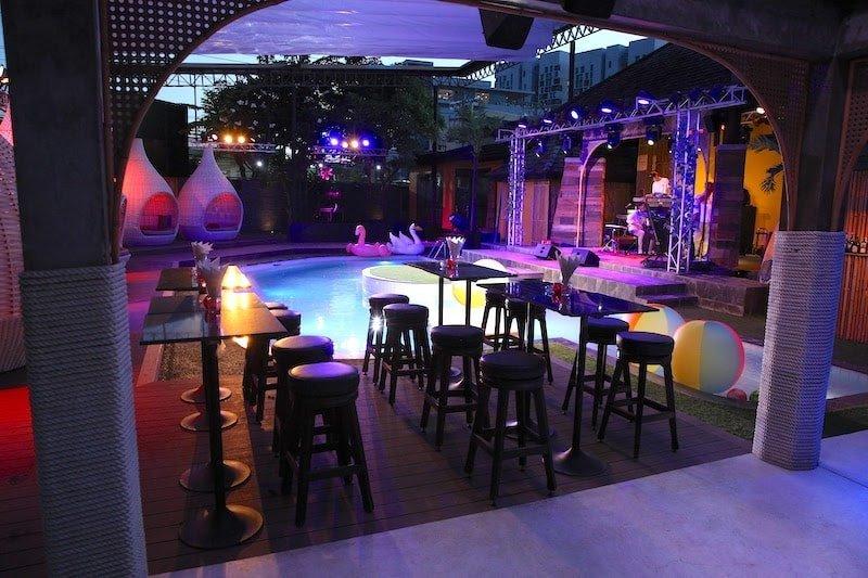 Pool zone at The PIMP Bangkok gentlemen club