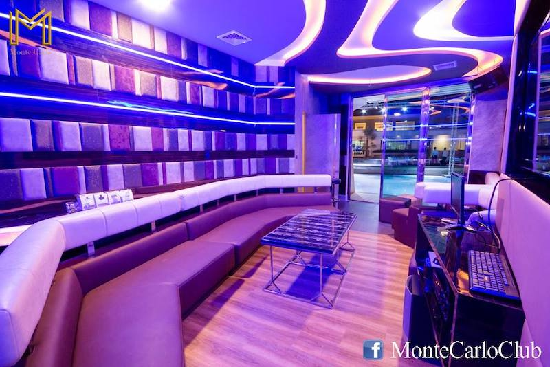 private party room next to the pool at M Club gentlemen club in Bangkok