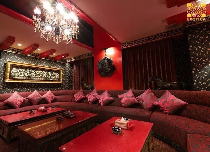 red VIP room at Exotica Exclusive Club in Thonglor