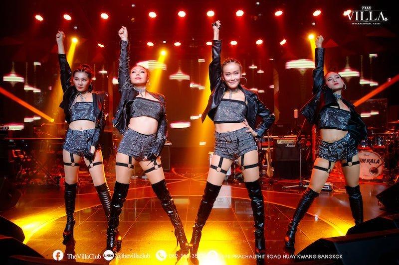 sexy Thai dancers at The Villa International Club in Bangkok