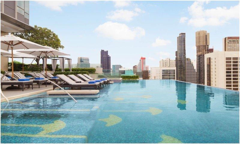 Swimming pool at Bangkok Marriott Hotel The Surawongse