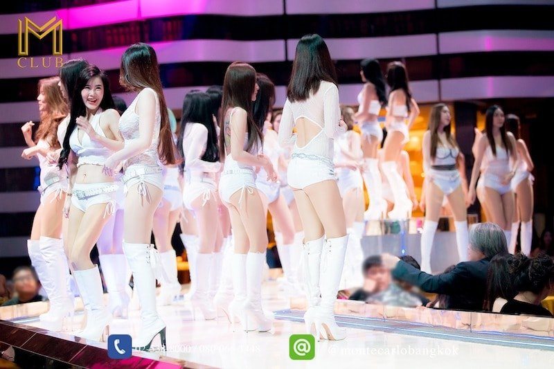 Thai girls on stage at M Club in Lat Phrao