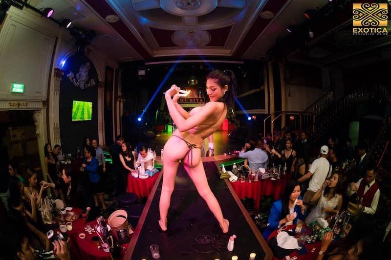 topless girl at Exotica Thonglor in Bangkok