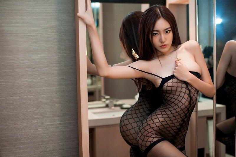 thai girl in see through lingerie